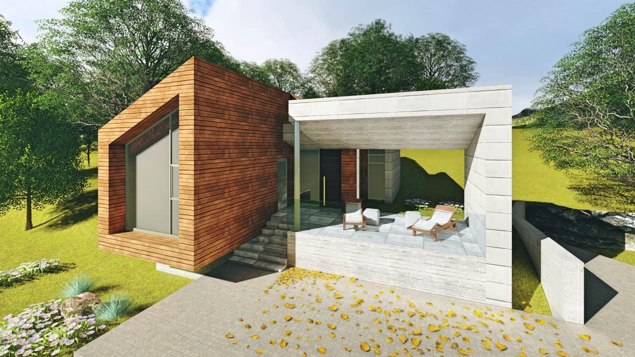 Vivienda unifamiliar estudio de arquitectura en gij n - Arquitectos en gijon ...